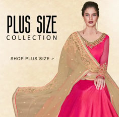 LATEST DESIGNER PLUS SIZE INDIAN DRESSES COLLECTION