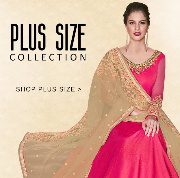 LATEST DESIGNER PLUS SIZE INDIAN DRESSES COLLECTION