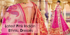 Latest Pink Colour Indian Ethnic Dresses