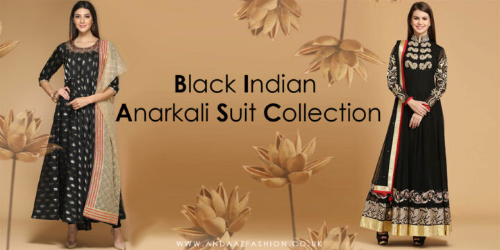 Black Indian Anarkali Suit Collection