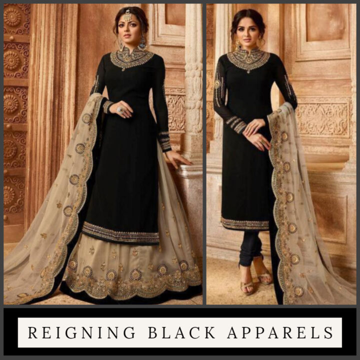 Black Indian Anarkali Suit Collection